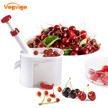 VOGVIGO Cherry фрукты приспособление для удаления косточек Cherry Pitter выбора с Пластик контейнер Новинка простой кухонный инструмент Аксессуары