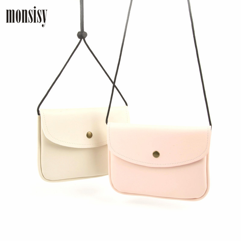 Monsisy Lolita Coin Purse Bags For Girl Boy Kawaii PU Letaher Kid Messenger Bag Handbag Casual Children Mini Shoulder Bag