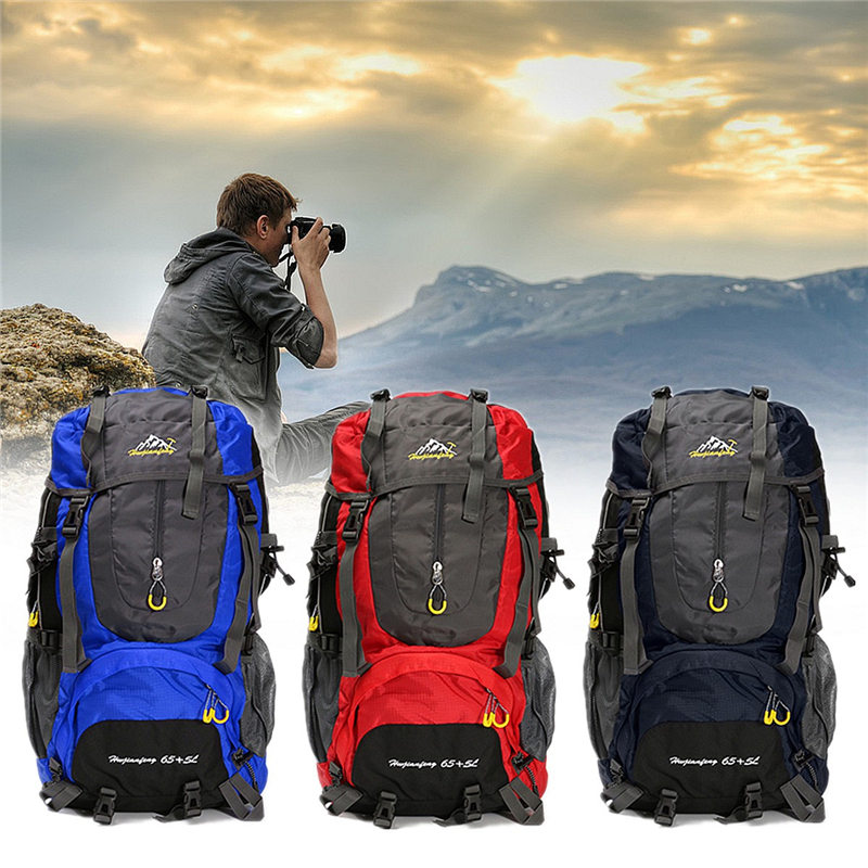 70L Men Women Waterproof Travel Backpack Camping Climbing Sports Bag Mountaineering Hiking Backpack Molle Sport Bags Rucksack 70l internal metal frame molle backpack rucksack water resistant bags 600d camouflage men long distance travel backpack t0071