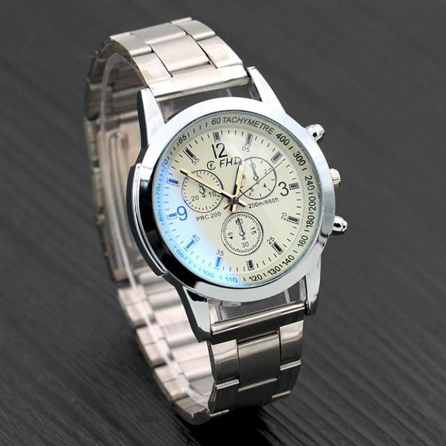 2018 Watch Men Luxury Brand Steel Date Business Clock Silver Mens Watch Relogio Masculino De Luxo Classic Vintage Reloj Hombre 2