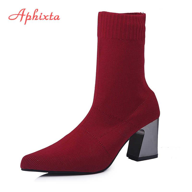 Jady Rose czarne kobiety skarpety buty rozciągliwa tkanina