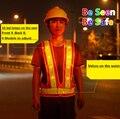 Oi vis segurança reflective led colete de segurança de tráfego ao ar livre noite clothing segurança led de aviso de segurança equitação vest frete grátis