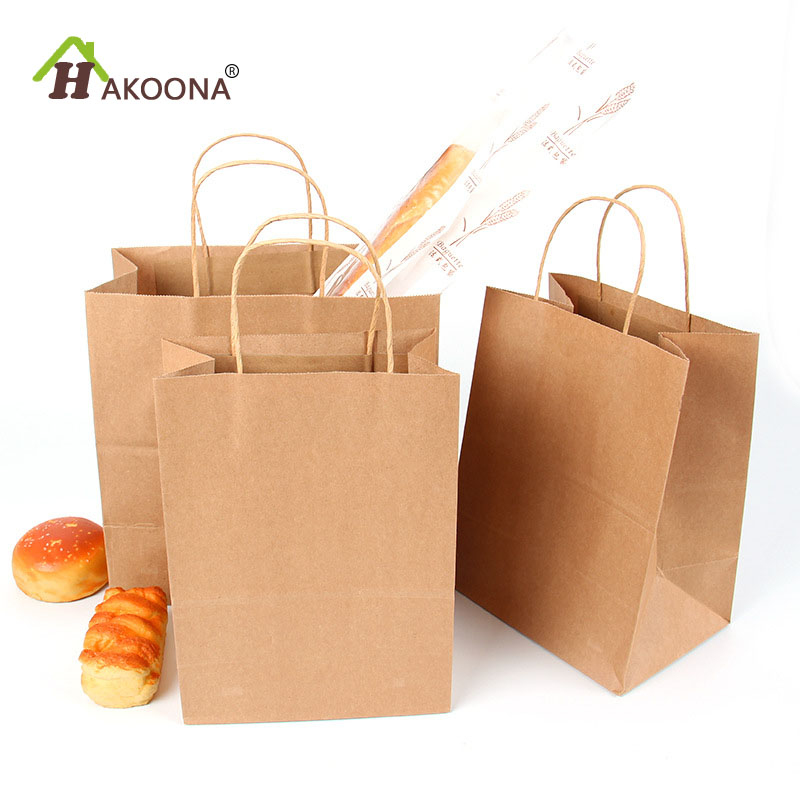 Us 47 31 Off Hakoona Kraft Paper Bags With Handles 50 Pieces For Gifts Food Lunch Box Multi Function S Party Clothes Shoes In Gift