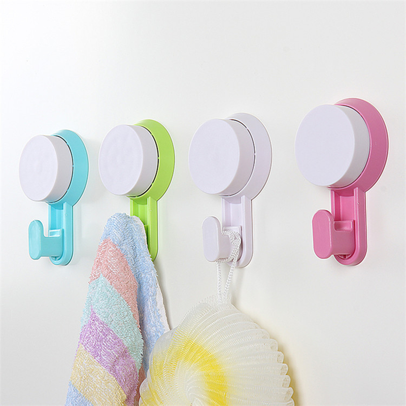 Bathroom:  1PC Plastic Strong Wall Suction Hook Bathroom Product Hanging Hooks Room Sundries Hanging Sucker Hook - Martin's & Co