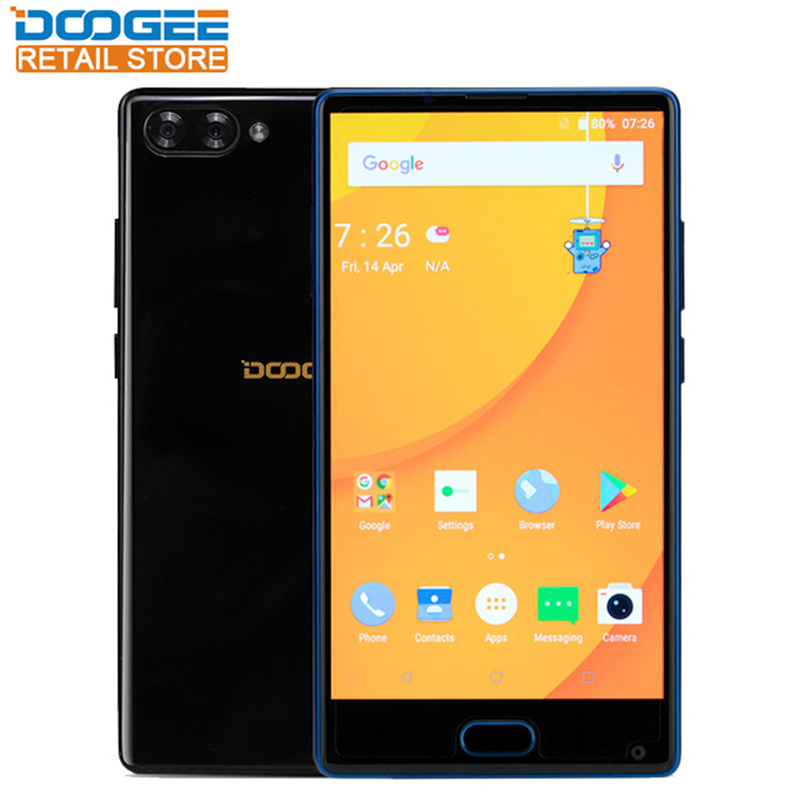 Doogee Mix 4G Bezel-less Mobile Phone 6GB RAM 64GB ROM Android 7.0 Helio P25 Octa Core 16MP Dual Camera Fingerprint CellPhone