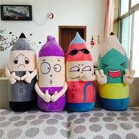 1 adet Süper Kawaii 2B Kalem Sevimli Emoji Karikatür Yaratıcı peluş oyuncaklar Tatil Hediye Için Minderler doldurulmuş oyuncak brinquedos juguetes