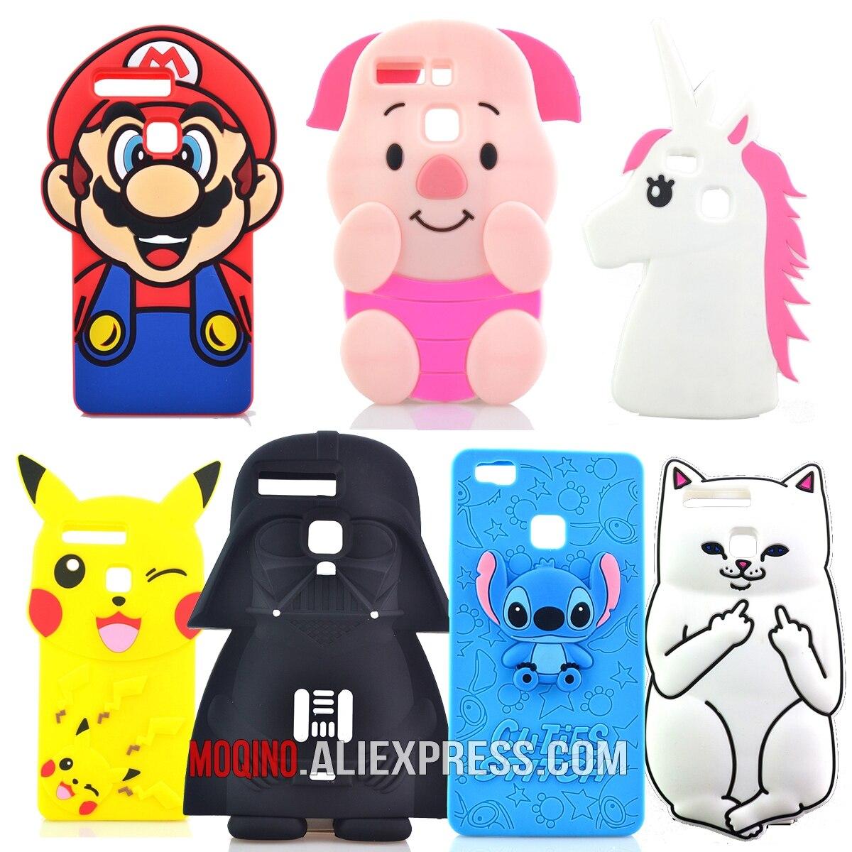 Para Huawei P9 / P9 lite Funda Star Wars Master Yoda Stitch Pocket - Accesorios y repuestos para celulares