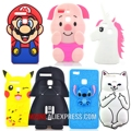 For Huawei P9 / P9 lite Case Star Wars Master Yoda Stitch Pocket Cat Pig Unicorn Soft Silicone Cell Phone Cases Covers