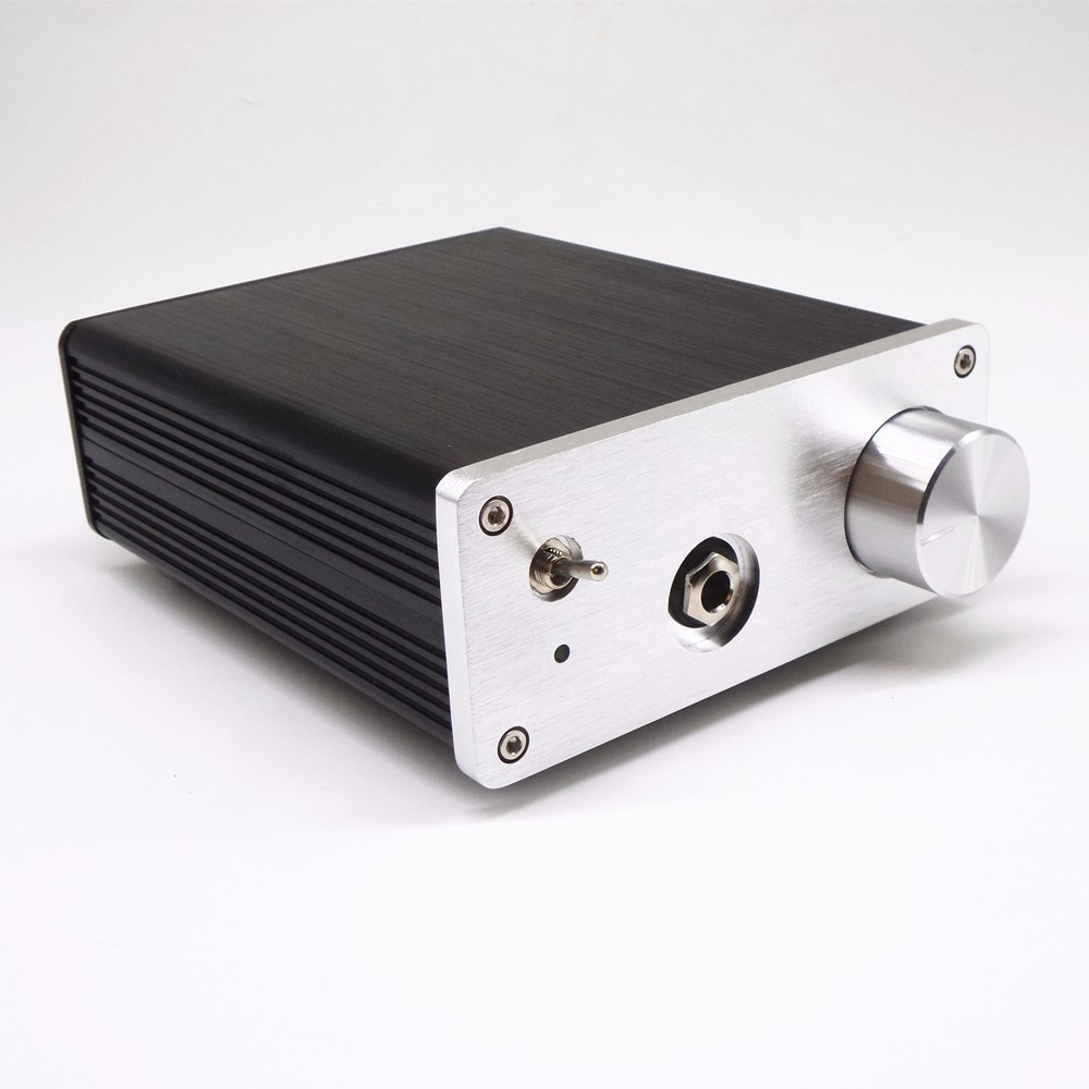 TIANCOOLKEI JM31 USB DAC decoder AK4490 + SOLO headphone professional audio amplifier DAC amp one machine 3206 amplifier aluminum rounded chassis preamplifier dac amp case decoder tube amp enclosure box 320 76 250mm