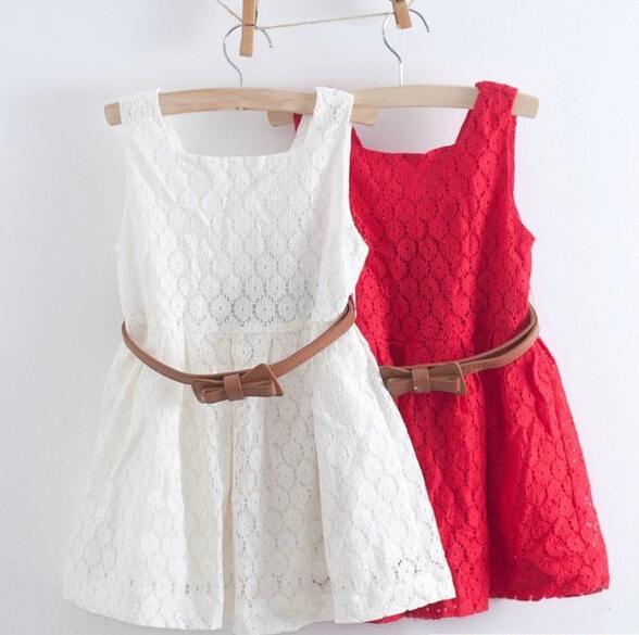 Online Shop Summer Casual Lace Flower Girl Clothing A-Line Dress ...