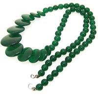 Einzigartige Perlen schmuck Shop 6-20 MM Große Münze Grün Jade Edelstein Lose Perlen Ein Voller Strang 15 zoll LC3-0308