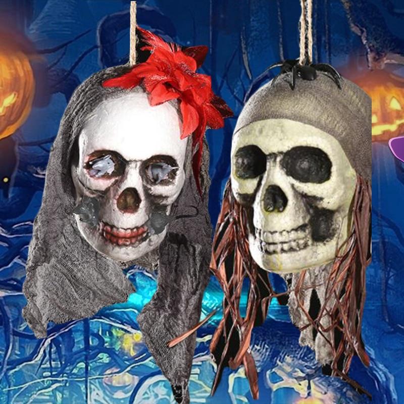 Horror Scary Halloween Foam Skull Hanging Decoration Props House Home Garden