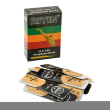 MSOR Hot 10pcs Classic Alto Sax Reed Reed For Riyin Saxophone 2.5 Strength 2 1/2 Music Xmas هدایا مفید برای آلات موسیقی