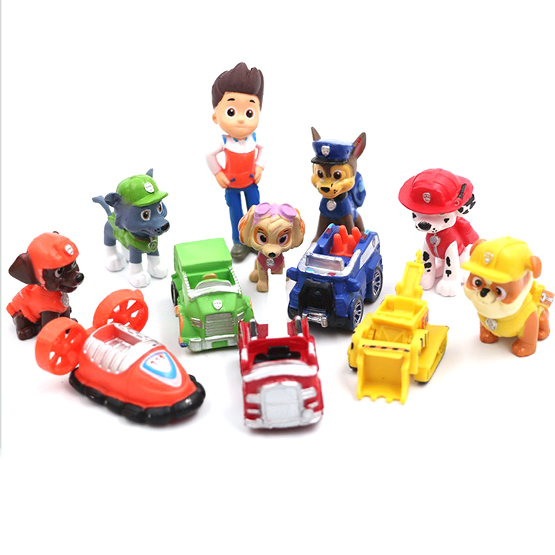 Paw Patrol Lot Birthday Toys Set Pat Patrouill Canina PVC Action Figures Cars Psi Patrol Figures Pata Patrulla Gifts For Kids