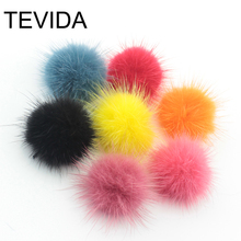 Hight Quality 100PCS 30MM Mink Ball Fur for Ring Earring Shoes Clothes DIY Jewelry Findings