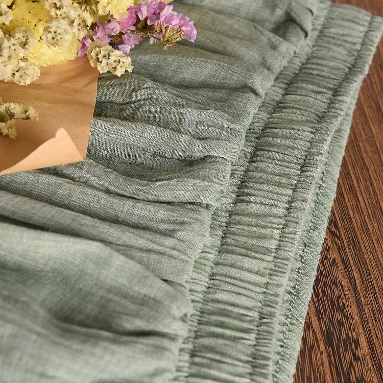 Frauen Elegante 16 Farbe Hohe Taille Elastische Taille Leinen - Damenbekleidung - Foto 3