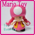 "Mario Bros 4 ""TOADETTE Poseable Action Figure Toy_M7"
