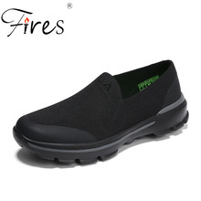 Fires Men Casual Shoes Mesh Breathable Loafers Slip On Hot Sale Man's Light Flat Shoes Zapatos de ocio para hombres Loafers