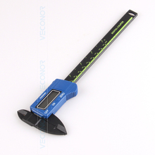 Buy online Veconor 150mm digital electronic LED display carbon fibre vernier caliper micrometer gauge for DIY use with plastic case
