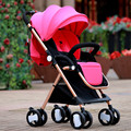 Easy fold baby stroller pick up in plane box, aluminum alloy frame