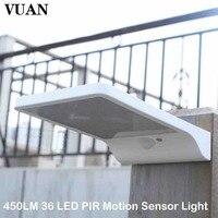 Newest 450LM 36 LED PIR Motion Sensor Light Garden Security Lamp Outdoor Street Waterproof Wall Lights