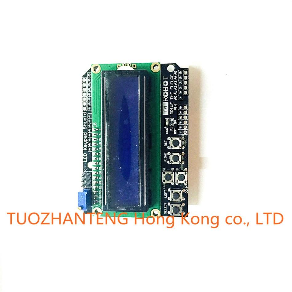Free Shipping1PCS LCD Keypad Shield LCD1602 LCD 1602 Module Display for font b arduino b font