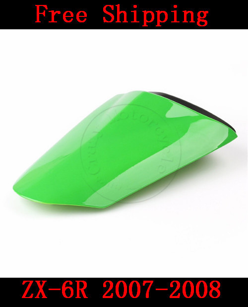For Kawasaki ZX6R ZX 6R 2007-2008 motorbike seat cover Brand New Motorcycle Green fairing rear sear cowl cover Free Shipping new arrival black motorcycle rear seat cover cowl for kawasaki ninja zx6r 636 zx 6r 2007 2008 07 08 90c20 wholesale