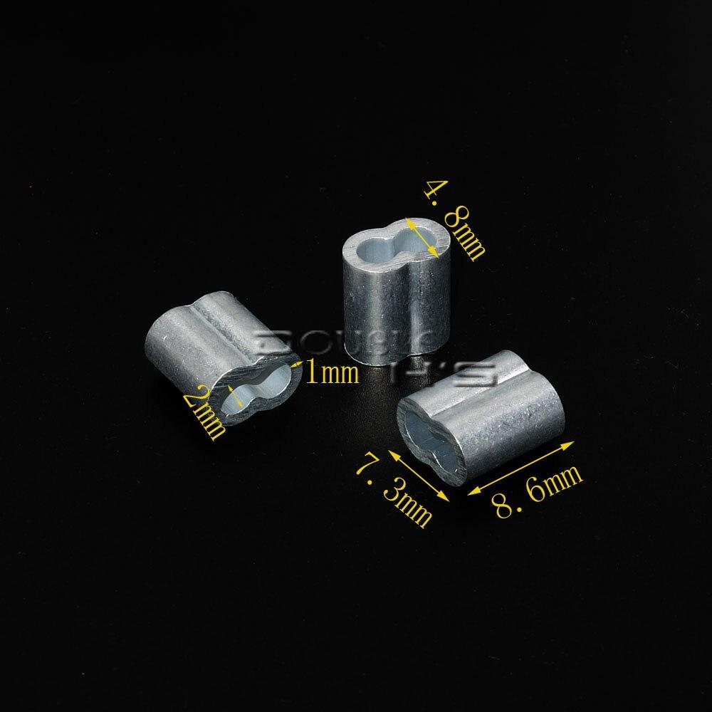 5000 unids/lote 2mm Cable de aluminio Crimps mangas cuerda Clip accesorios Loop manga-in Hebillas y ganchos from Hogar y Mascotas    2