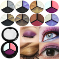 Newest 3 Colors Eyeshadow Natural Smoky Cosmetic Eye Shadow Palette Set Beauty Make Up