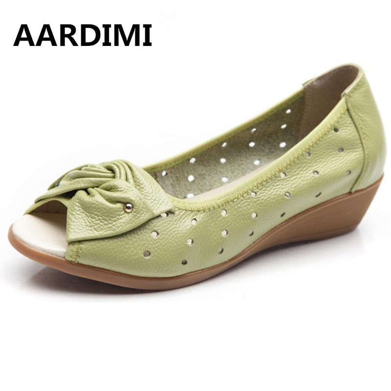 2017 New spring summer wedges sandals women bowtie women flats shoes casual genuine leather flat shoes woman chaussure femme plus size 34 43 new platform flat shoes woman spring summer sweet casual women flats bowtie ladies party wedding shoes