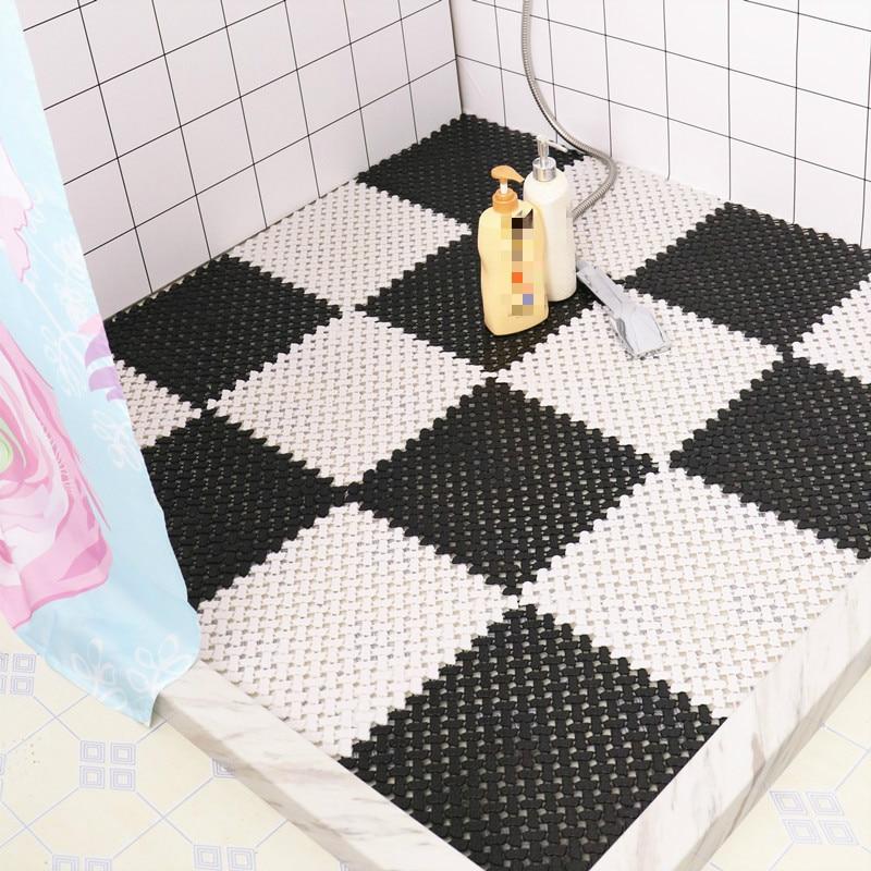 PVC Floor Mat Kitchen Bathroom Carpet Door Mat Floor Mat Kitchen Bathroom Non-slip Mat DIY Bath Carpet