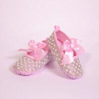 Pink Ribbon Bow Customized Handmade Pearls For 0 18M Newborn Princess Baby Girls 1st Birthday Gift