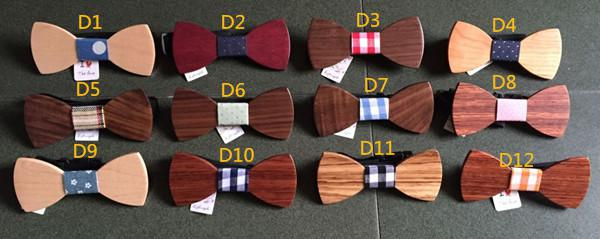 2015 New Arrival Fun Personality Men Leisure Wooden Bow Ties Bowtie Butterflies Good Wood For Xmas Gift 100pcs/lot
