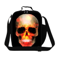 New Fashion Thermal Instulated Lunch Bag Cool Skull Print School Lunch Box Lancheira Termica Kids Personalized Picnic Food Bag