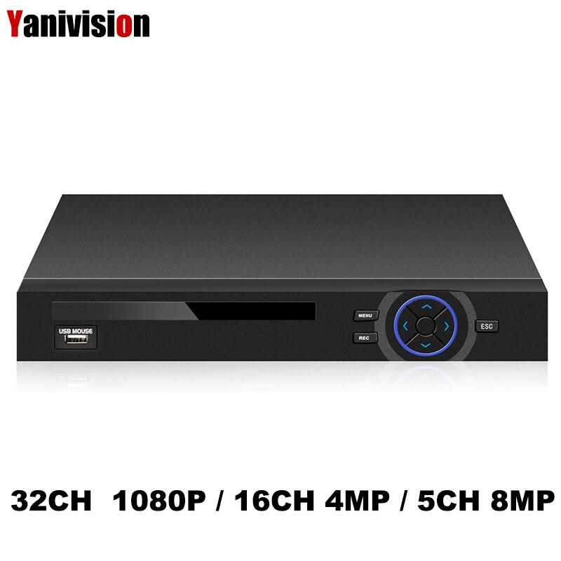 Full HD 1080P CCTV NVR 32CH HI3536D Processor Security Network Recorder 32CH 1080P NVR Support Wifi 3G RTSP 32CH 1080P/16CH 4MP