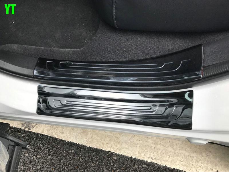 Auto door sill plate trim scuff plate for HONDA CRV 2017 2018 , auto accessories,8pcs/set.