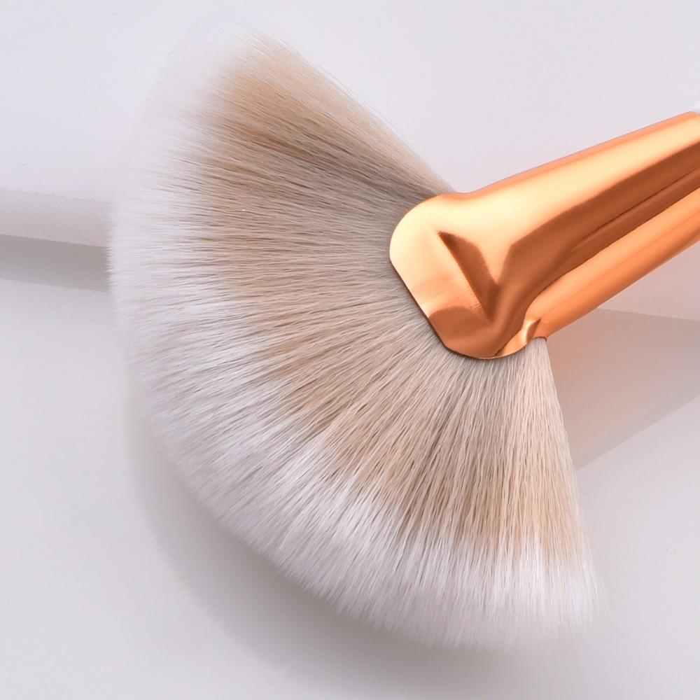 8 unidades/set juego de brochas de maquillaje suave sintético mango de madera
