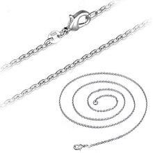 b4373f6ee6bc 1 piezas 1mm nuevo plata hexágono de collar para las mujeres Simple llano  cadena collar de la joyería 925
