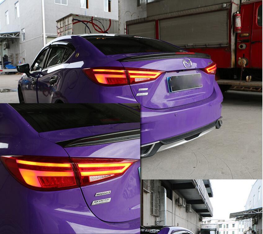 Affichage vidéo Pour Mazda 3 feux arrières 2014 ~ 2018 Mazda3 Axela feu arrière Orignal Conception led feu arrière DRL + Frein + parc + Signe
