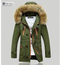 Módní pánská bunda na zimu v delším provedení
