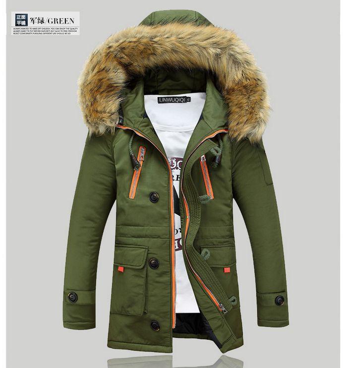 Livraison gratuite 2017 doudoune hommes de mode pour garder au chaud en hiver long manteau veste hommes