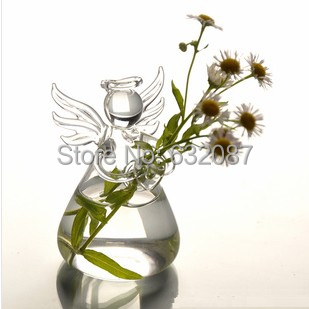 Height=9cm Small Size Glass Angel Beautiful Glass Material Love Angel Vase Glass Angel Home Decoration Factory Direct Supplying