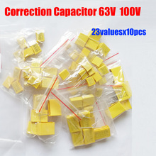 Square Correction Capacitor 23valuesx10pcs=230pcs 100V 63V 102J 684J Assorted Kit