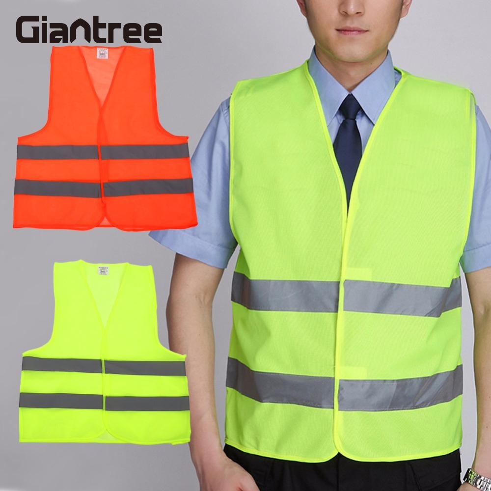 Giantree Safety Vest Reflective Vest Durable Reflective Clothes Strips Breathable Security Outdoors Reflective Tape