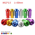 M12*1.5 Wheel Nuts 20 PCS/set UNIVERSAL RACING WHEEL LUG NUTS M12X1.5MM FOR HONDA TOYOTA FORD/Wheel Nuts Screw