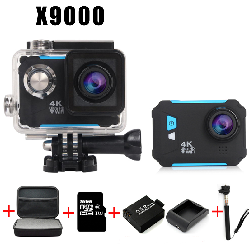 Diving camera Action Camera 4K WiFi Sport extreme Diving Helmet mini Cam Waterproof go pro camera waterproof Car recorder Mode