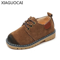 2018 New Unisex Boys Girls Leather Shoes Sneakers Brand Retro Style Sport Children Casual Shoes Wear