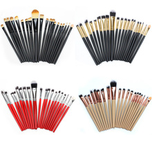 20PC Makeup Brushes Sets Kit Eyeshadow Eyelash Lip Foundation Powder Eye Shadow Brow Eyeliner Cosmetic Make Up Brush Beauty Tool