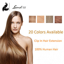 Brazilian Virgin Straight Hair Clip Hair Brazilian #12 #17 #27 #30 #33 #35 Colored Clip In Natural Hair Human Hair Clip In 100g