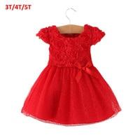 2015 Summer Bow Little Girl Clothing Ball Gown Children Kids Tutu Baby Girls Dress Baby Dress